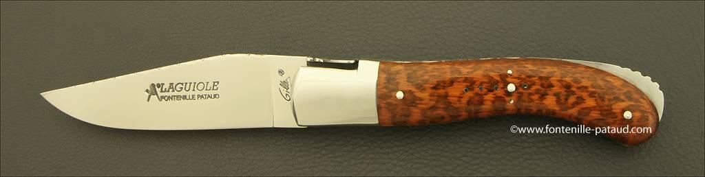 Laguiole Sport knife guilloché amourette