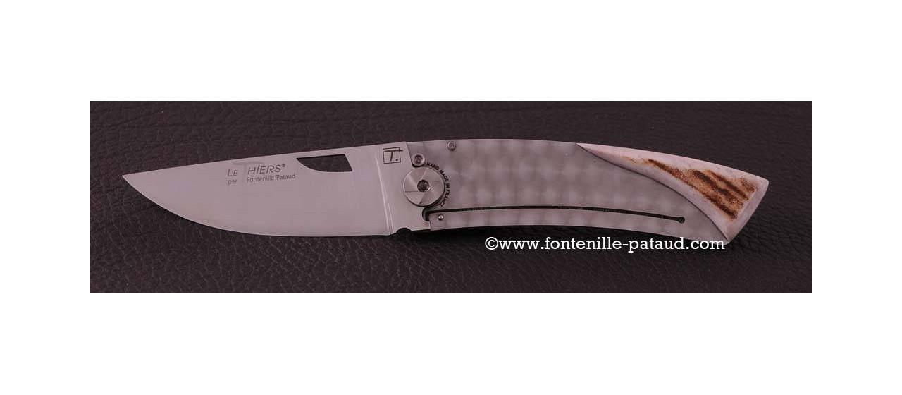 Couteau Le Thiers Artisanal Bois de cerf