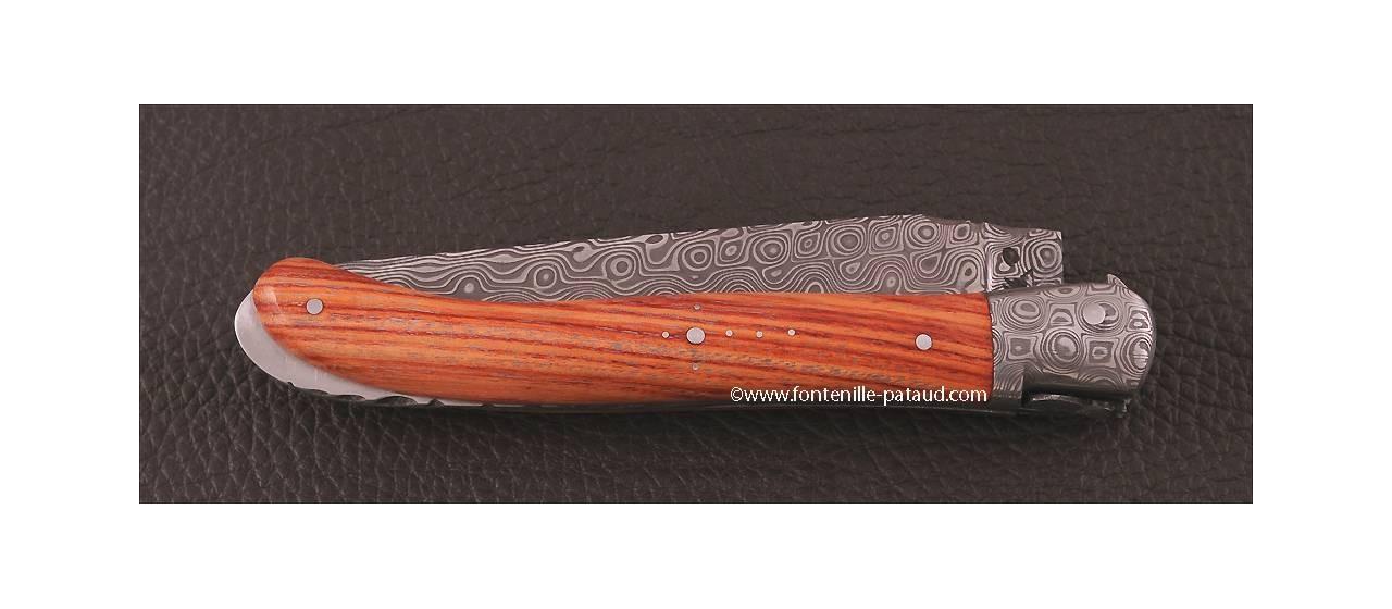 Laguiole en acier damas et bois de rose de France