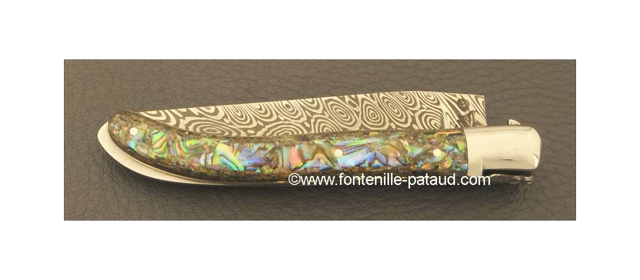 Laguiole Knife XS Damascus Range Mother of pearl