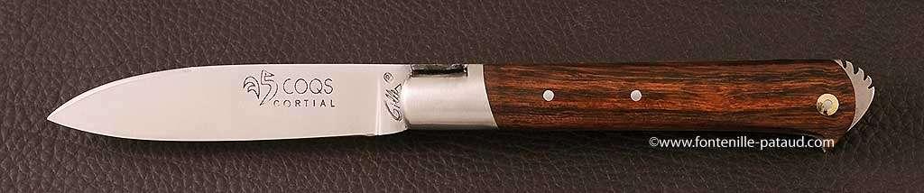Couteau le 5 Coqs Bois de fer fabriqué en France