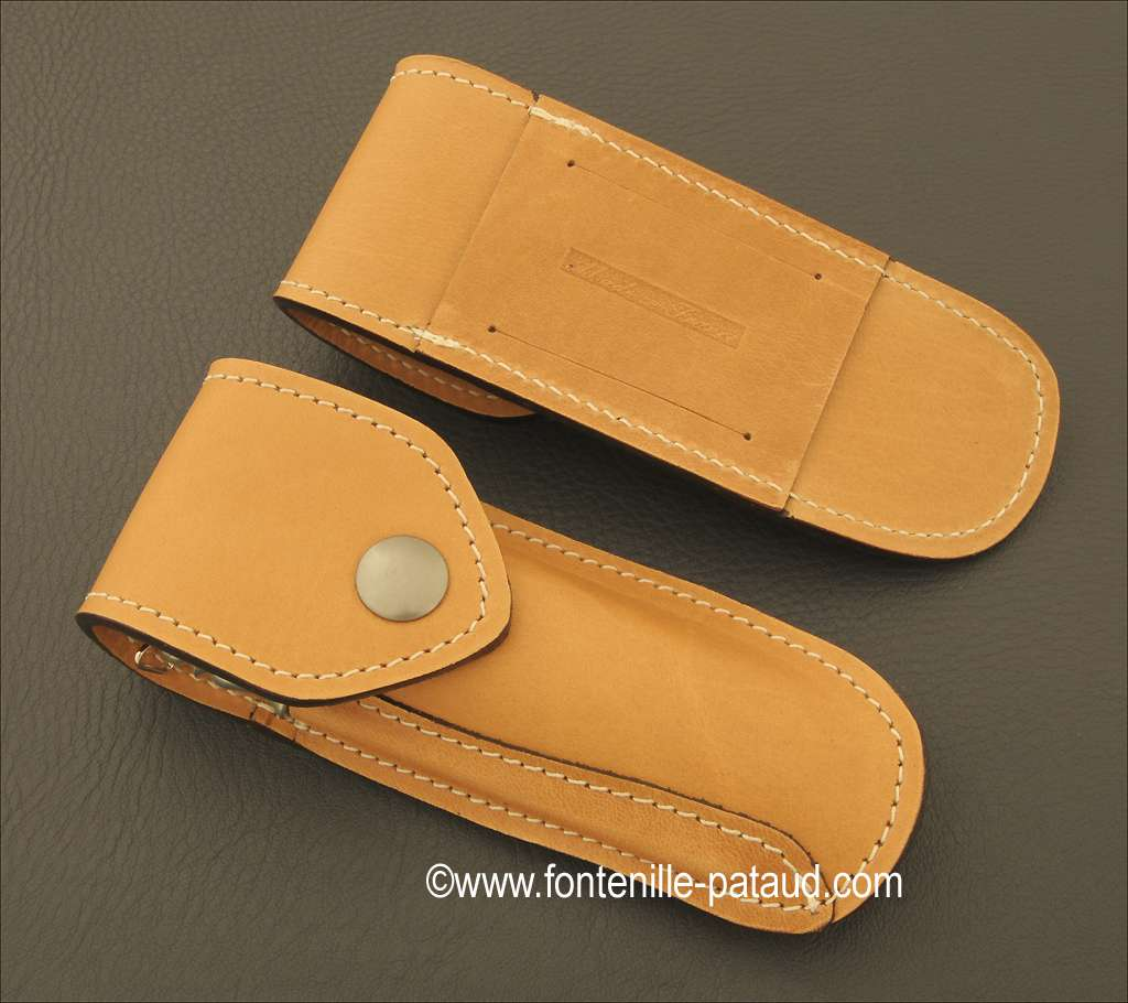 Leather belt sheath for Laguiole Sport knife