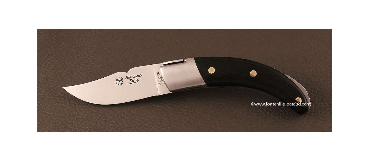 Corsican Rondinara knife classic range ebony