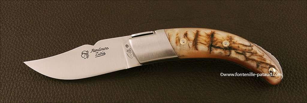 Corsican Rondinara knife classic range ram horn
