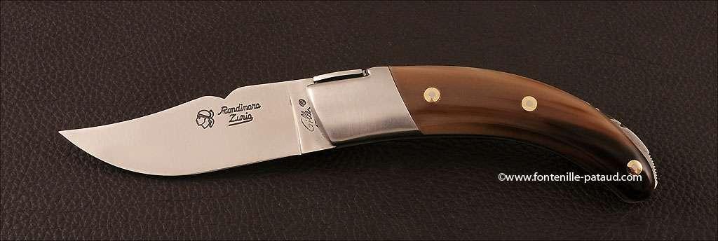 Couteau Corse le Rondinara Classique Pointe de corne