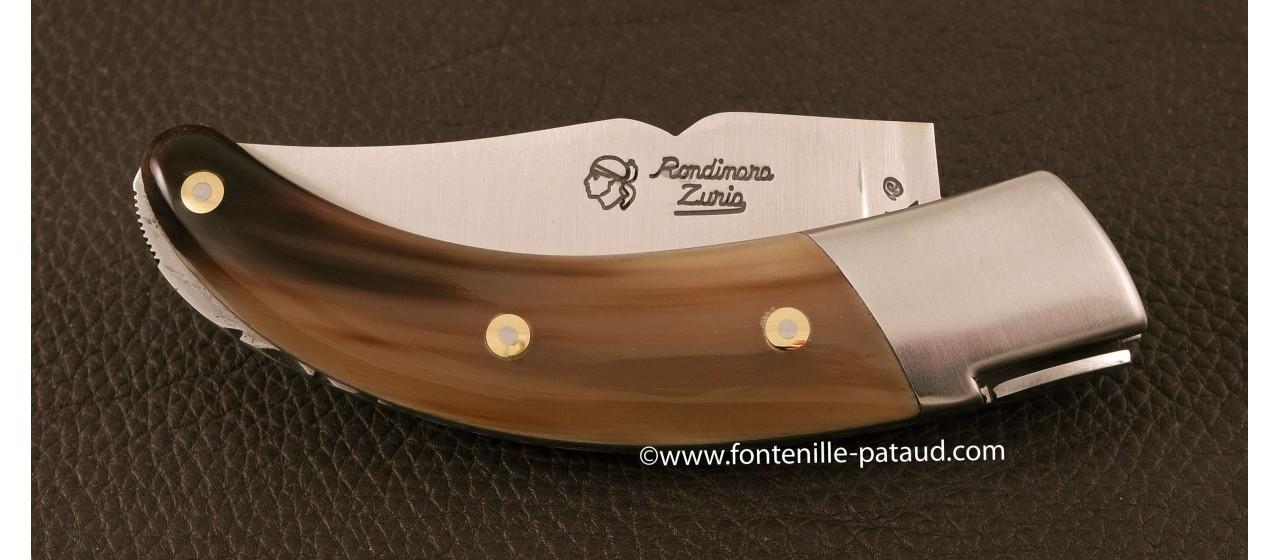 Corsican Rondinara knife classic range horn tip