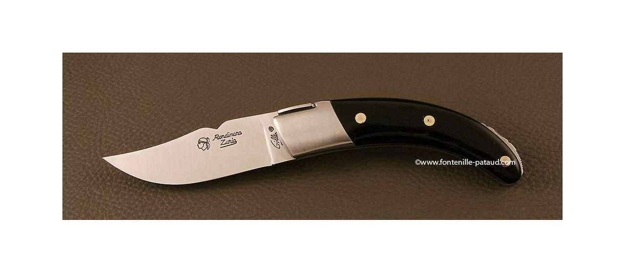Couteau Corse le Rondinara Classique Pointe de corne noire