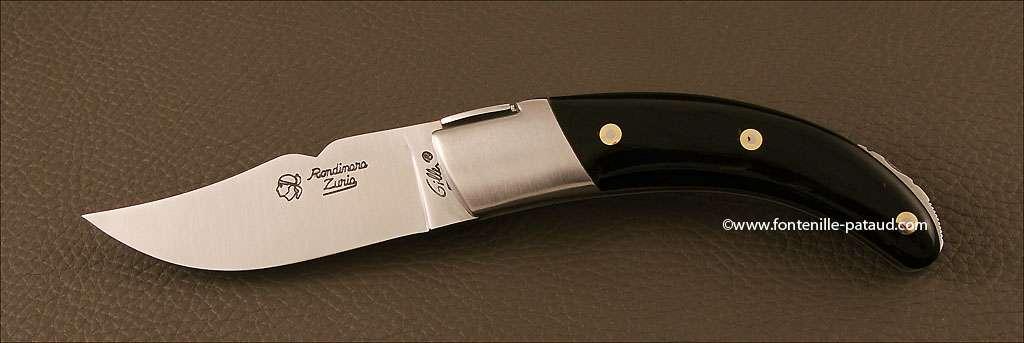 Corsican Rondinara knife classic range black horn tip