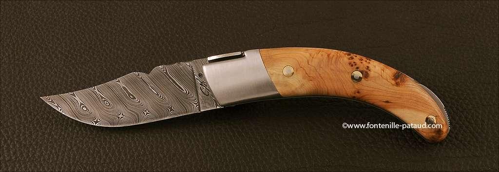 Corsican Rondinara knife damascus range juniper