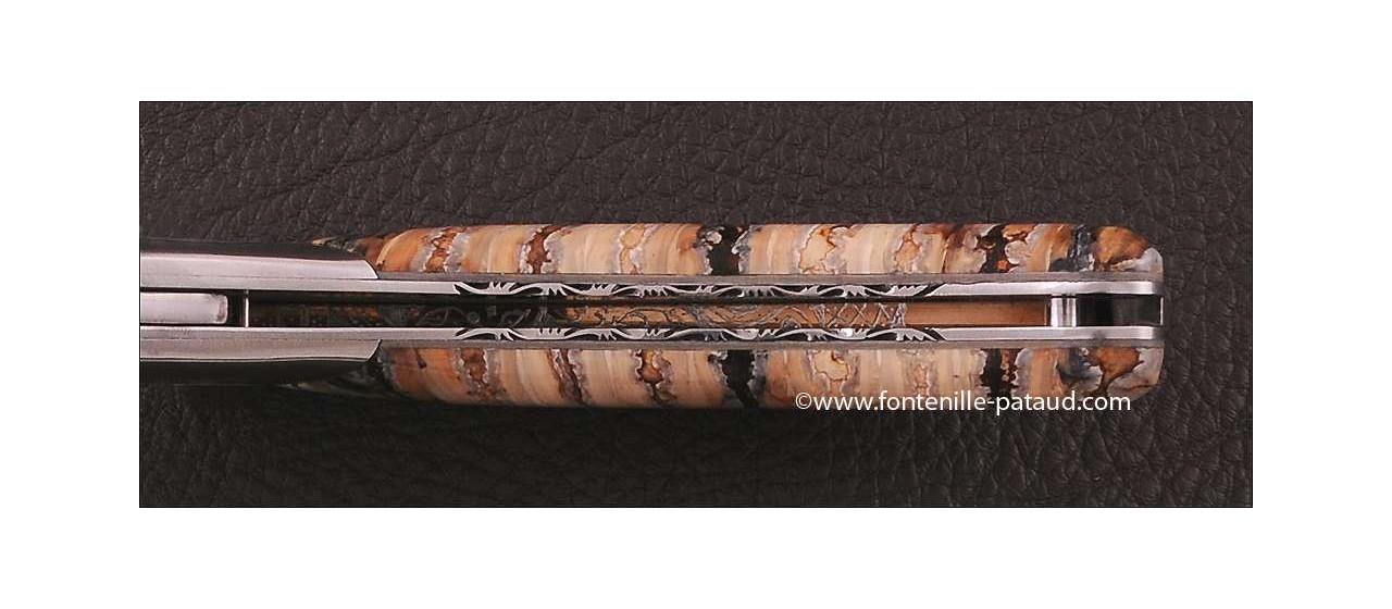 Corsican Rondinara knife damascus range molat tooth of mammoth