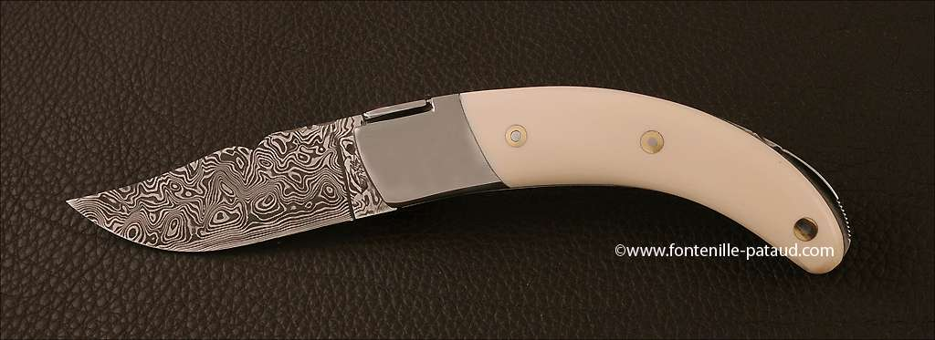 Corsican Rondinara knife damascus range real ivory
