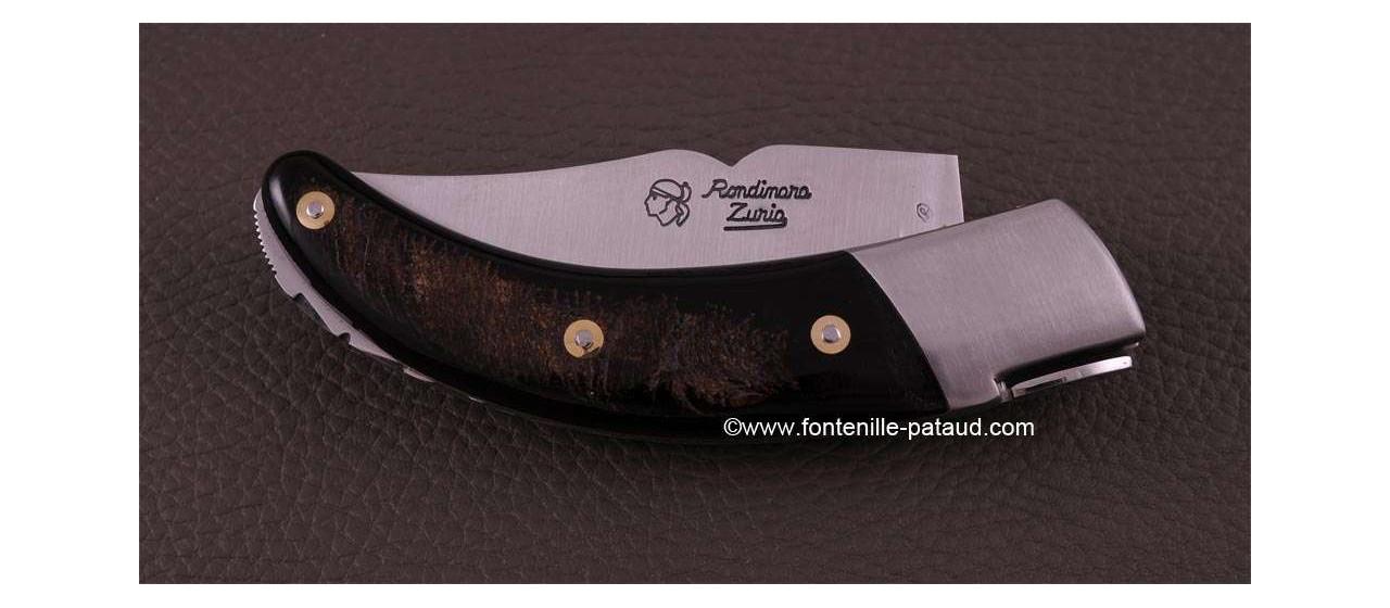 Corsican Rondinara knife classic range buffalo bark