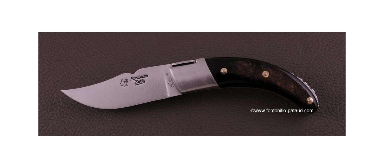 Couteau Corse le Rondinara Classique Buffle brut