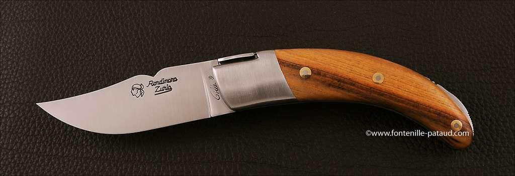Corsican Rondinara knife classic range pistachio wood