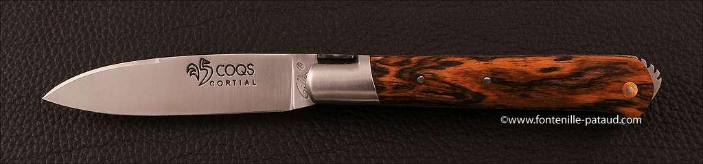 Couteau le 5 Coqs Bocote fabriqué en France