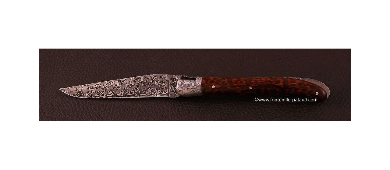 Acheter couteau laguiole en damas