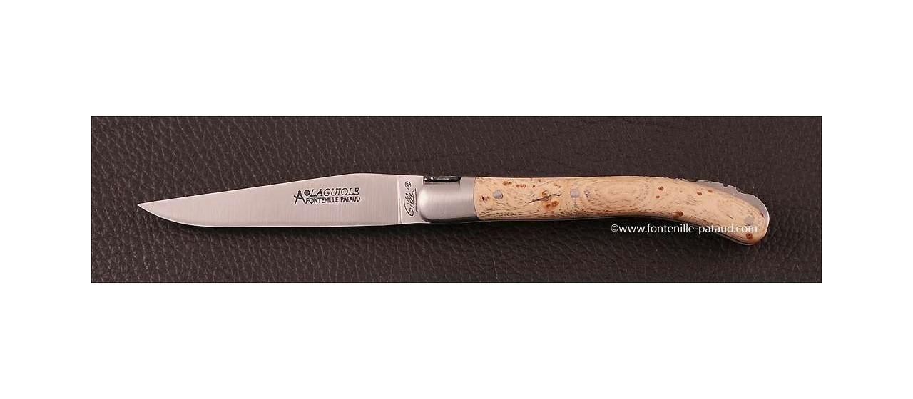 Laguiole Knife Le Pocket Classic Range Ash burl