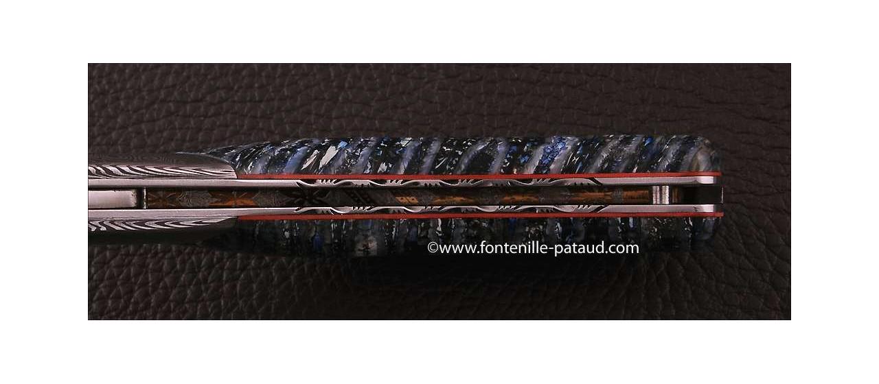 Corsican Rondinara knife damascus range molar tooth of mammoth delicate filework