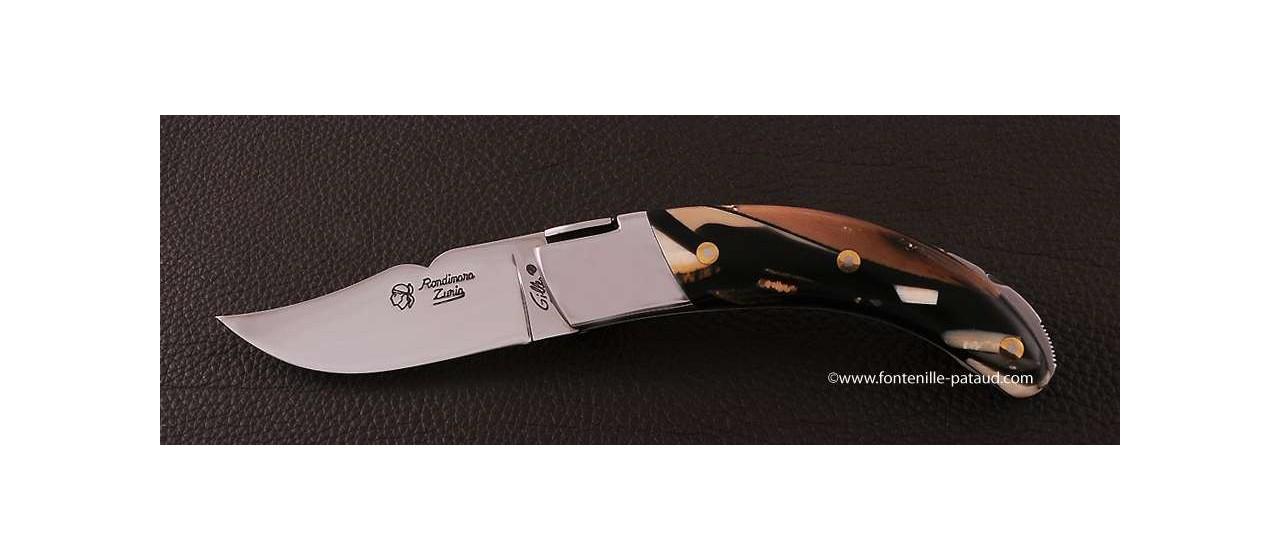 Couteau Corse le Rondinara Classique Ivoire de mammouth stabilisé