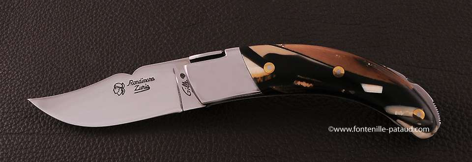 Corsican Rondinara knife classic range stabilized mammoth ivory