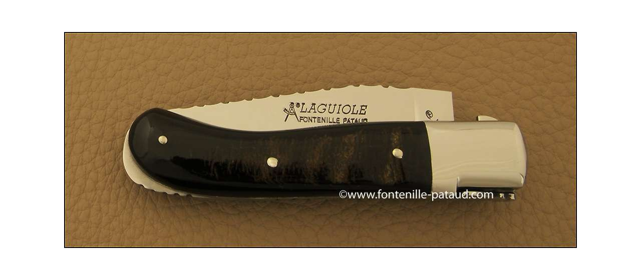 Laguiole Knife Gentleman Guilloche Range buffalo bark