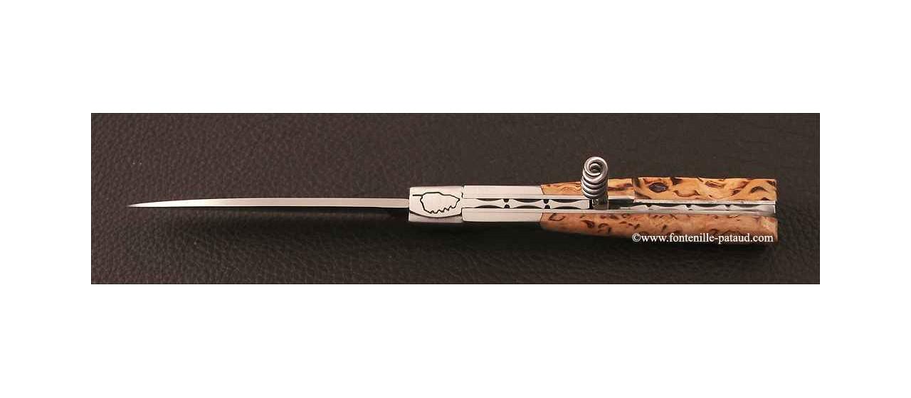 Couteau Vendetta Corse Traditionnelle avec tire-bouchon Bouleau