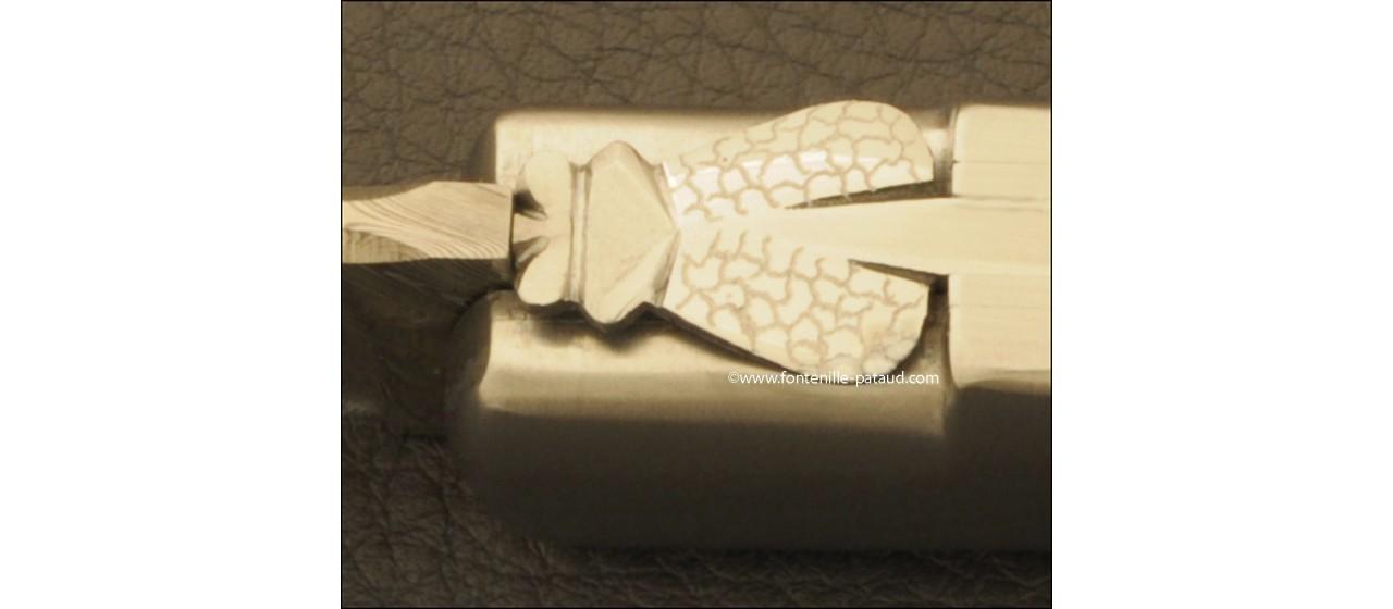 Laguiole Knife Gentleman Damascus Range Real Ivory