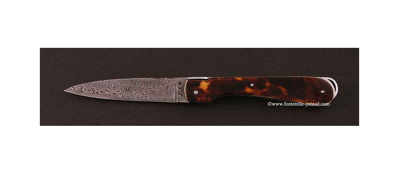 Corsican Sperone knife Collection Range Genuine tortoise Delicate file work