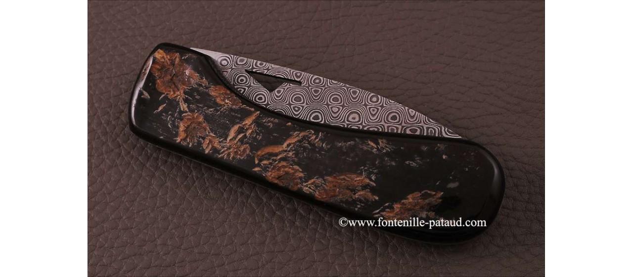 Corsican U Cumpa knife Damascus Range Buffalo bark