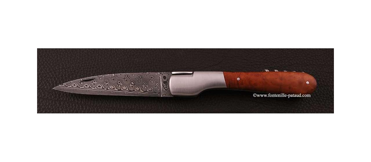 Couteau Vendetta Corse Damas avec tire-bouchon Racine de bruyère