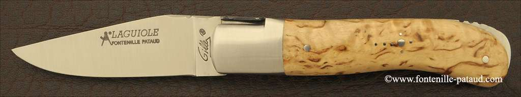 Laguiole Knife Gentleman Classic Range Curly Birch