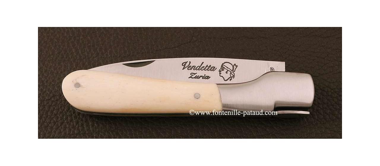 Couteau Vendetta Corse Traditionnelle Os véritable