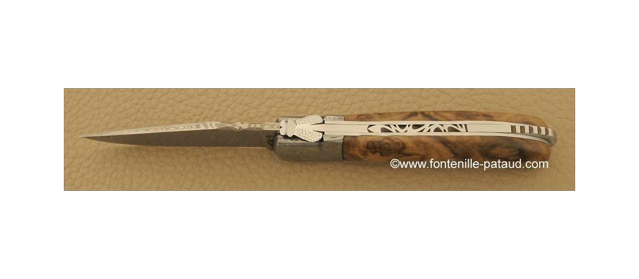 Laguiole Knife Gentleman Damascus Range Walnut
