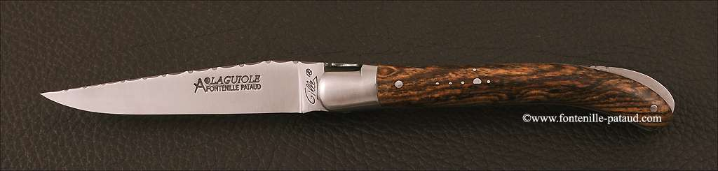 Laguiole Knife Le Pocket Guilloche Range Bocote