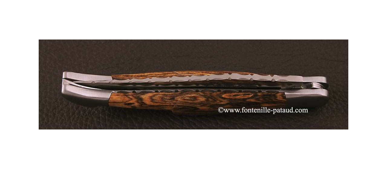 Laguiole Knife Picnic Guilloche Range Bocote