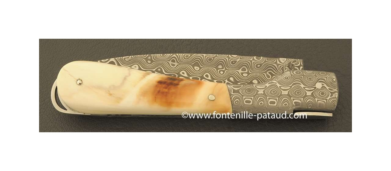 Corsican Sperone knife Damascus Range Warthog