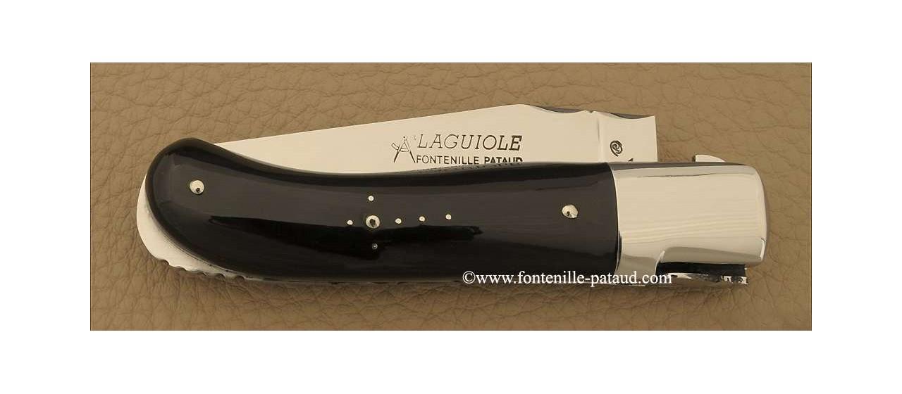 Couteau Laguiole Gentleman Classique Pointe de corne noire