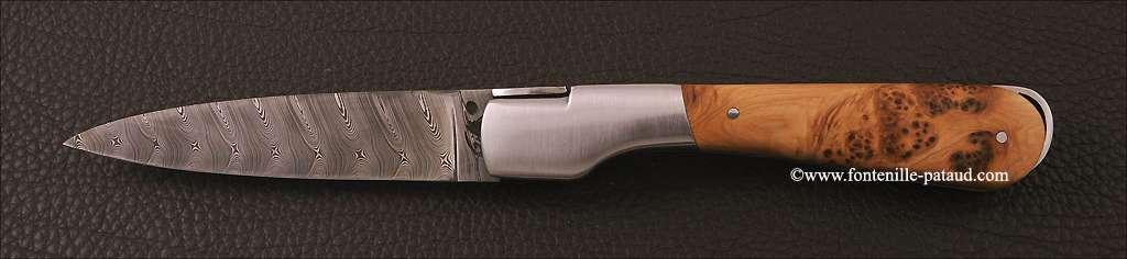 Corsican Sperone knife Damascus Range Juniper