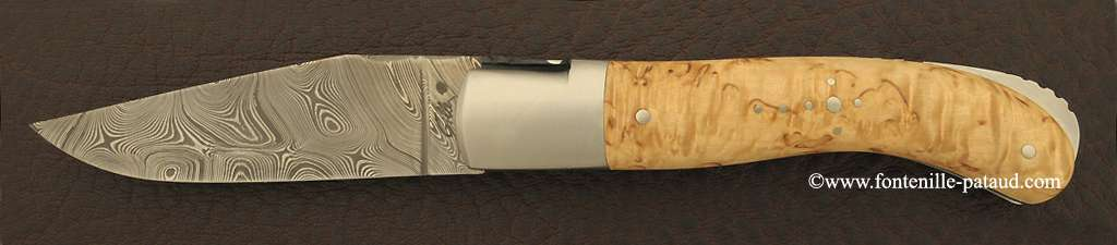 Laguiole Knife Sport Damascus Range Birch