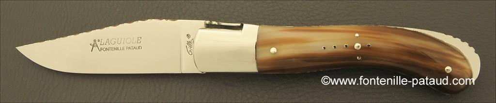 Couteau Laguiole sport guilloché pointe de corne