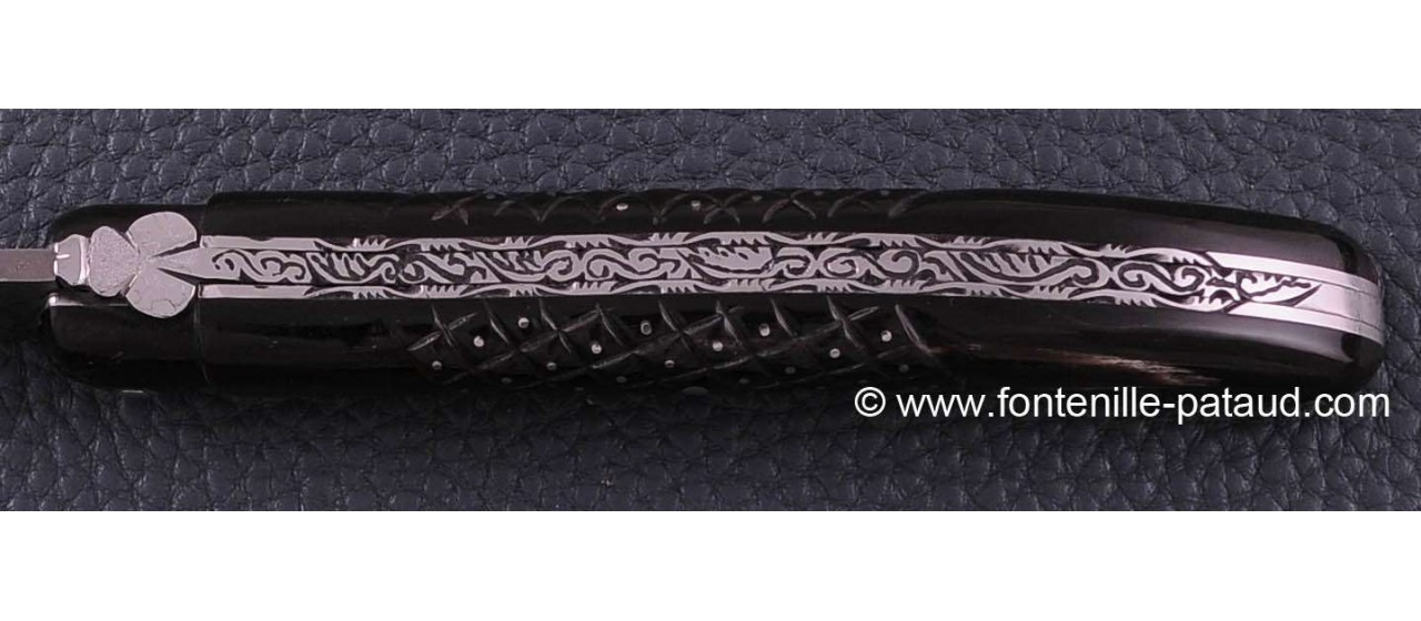 Laguiole knife damascus for collectors