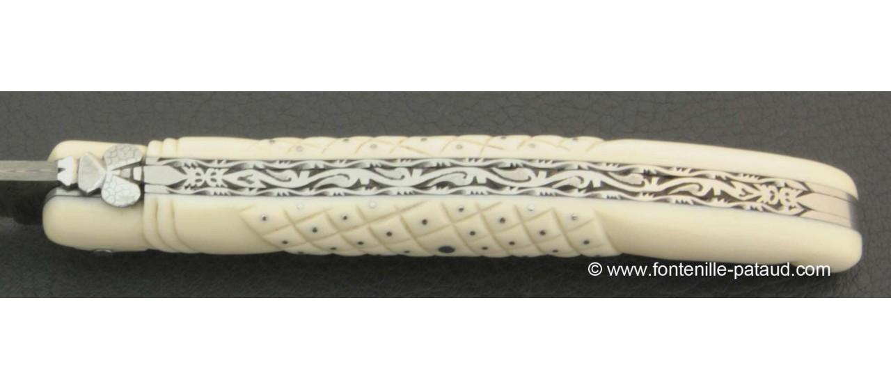 Laguiole pour collections ivoire et gravure fine