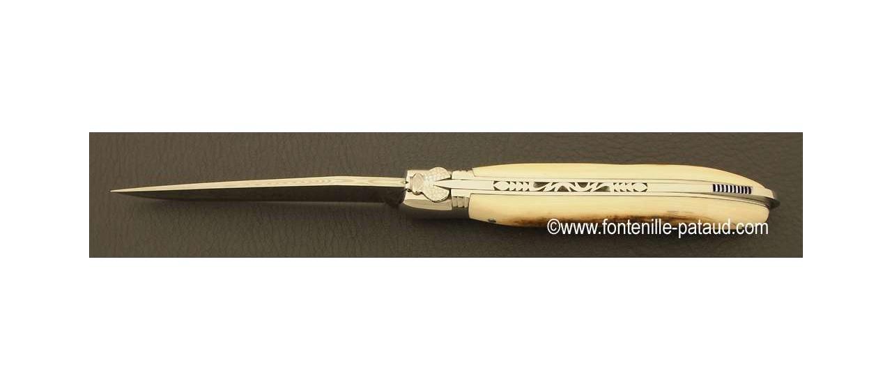 Couteau de laguiole luxe en ivoire de mammouth