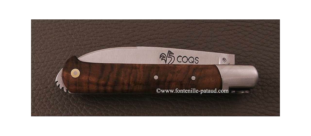 Le 5 Coqs knife snakewood hand made in France