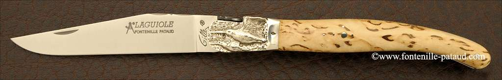 Couteau Laguiole Traditionnel 12 cm Classique Mitre Argent Bouleau