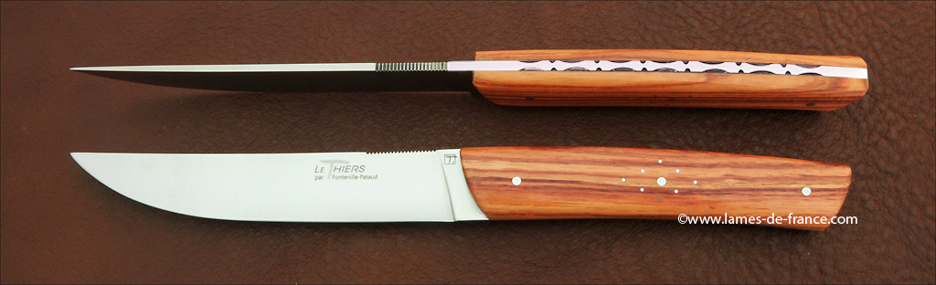 Table knives le Thiers rosewood, handmade in France