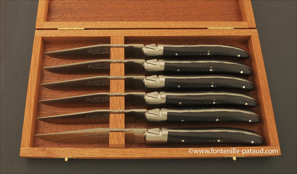 Couteaux Laguiole de table par la coutellerie Fontenille Pataud