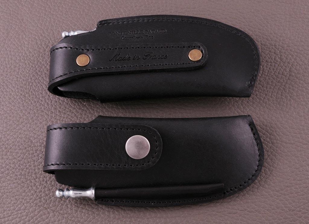 Etui 12 cm noir pour couteau vendetta de fabrication artisanale