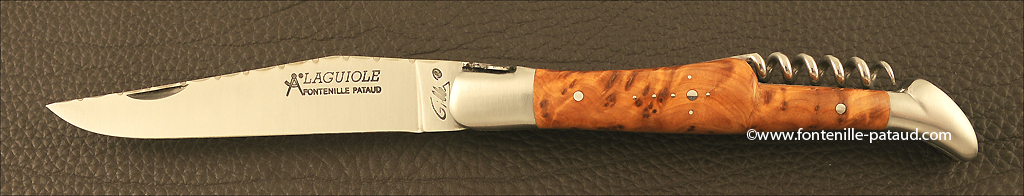 Couteau Laguiole avec tire-bouchon pour amateurs de vin