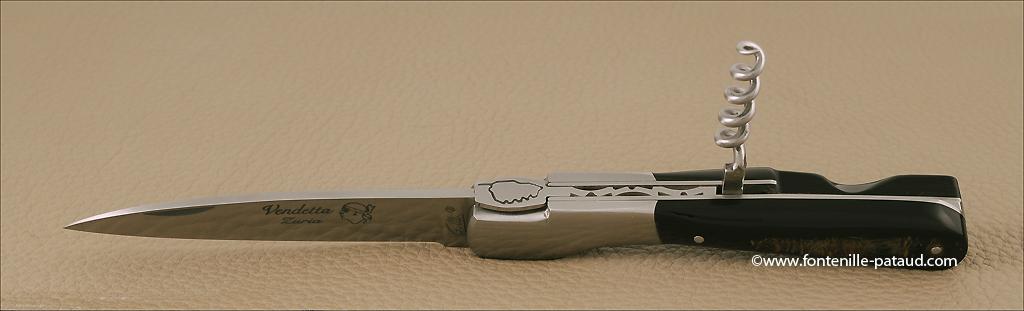 Couteau Vendetta Corse avec tire-bouchon pour amateurs de vin